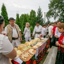 Prezentácia salašníckych výrobkov z Rumunska.