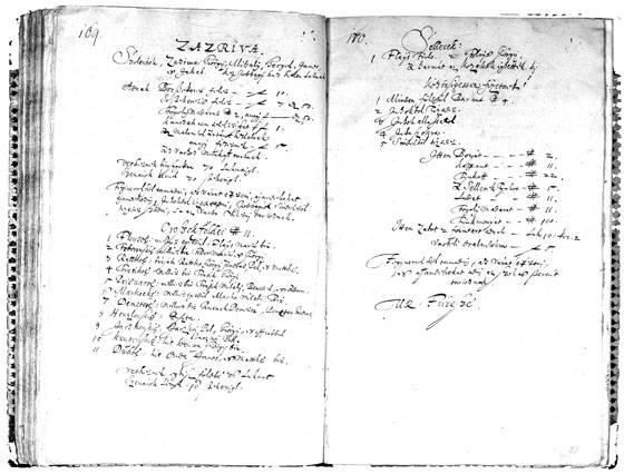 Prvé mená Zázrivcov v urbári z roku 1625: