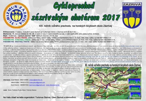 Cykloprechod zazrivským chotárom 2017