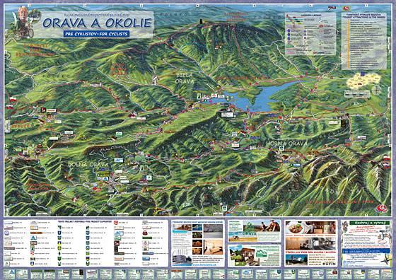 Nová cyklomapa Orava a okolie