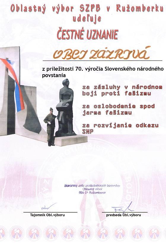 70. výročie Slovenského národného povstania